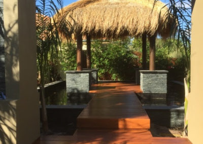 Bali hut with Merbau decking