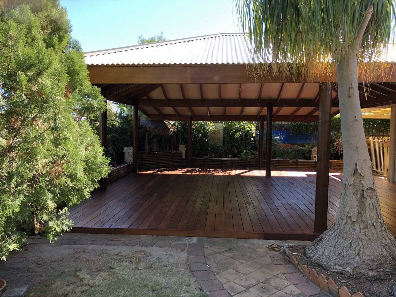 Colorbond Timber framed patio