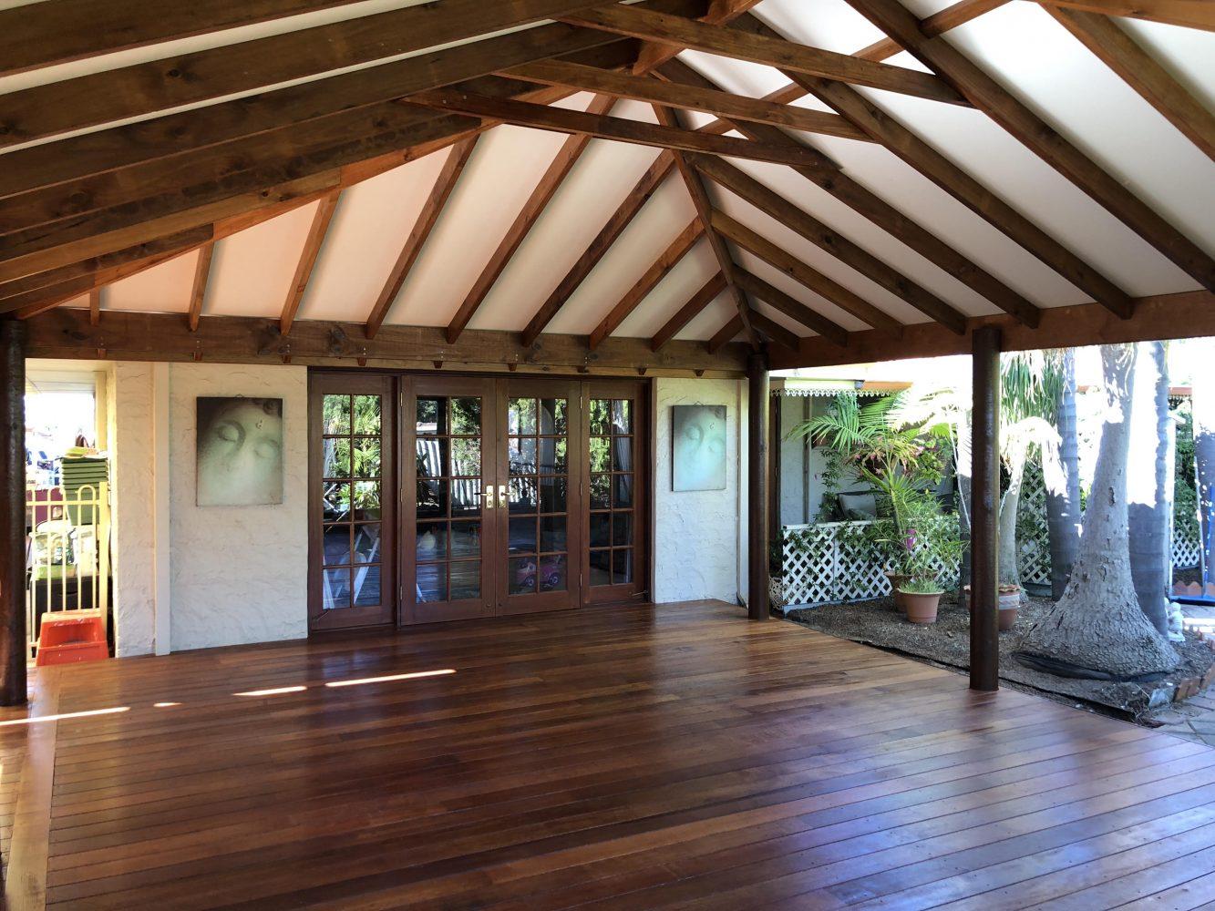 Timber patio