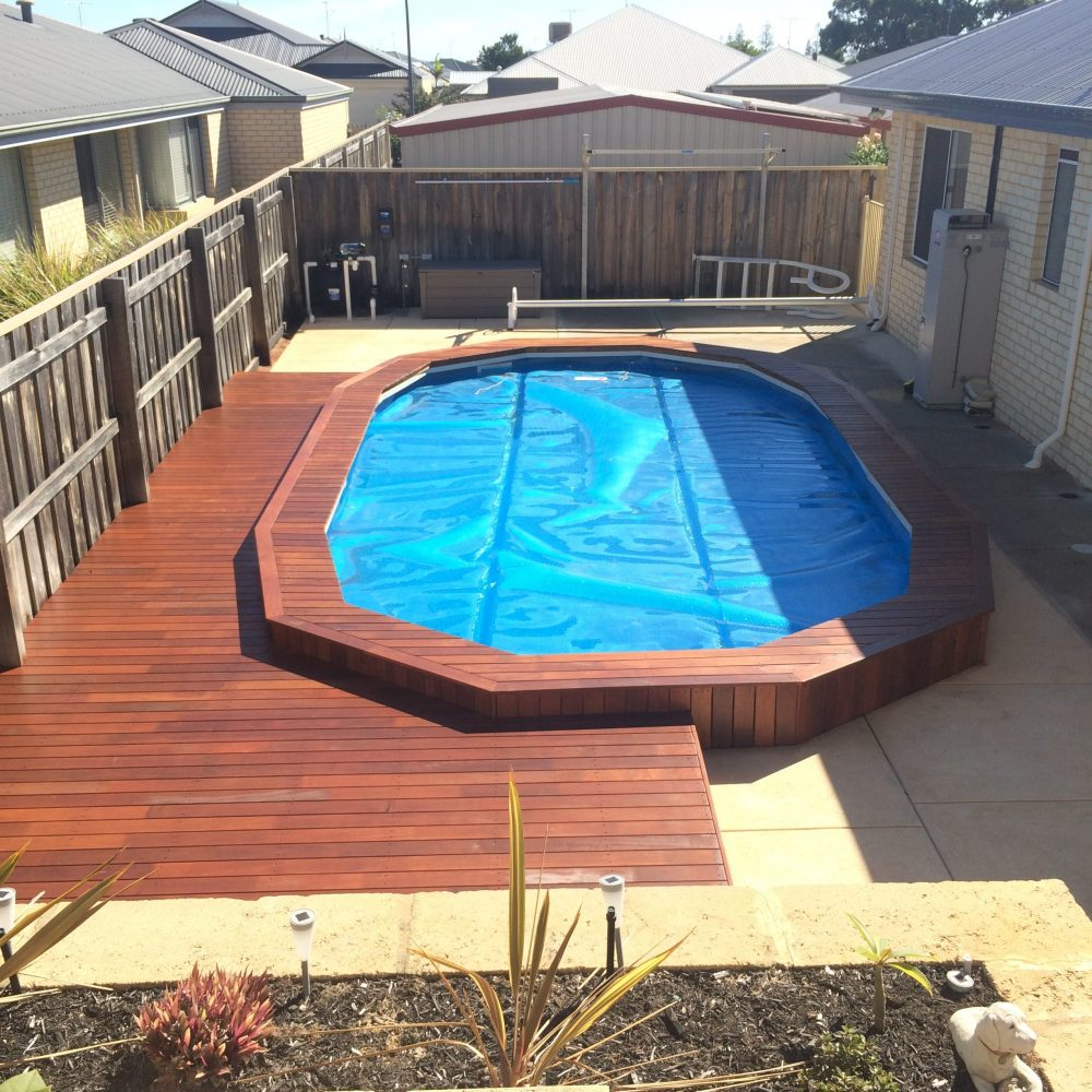 Pool merbau deck