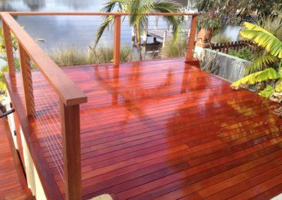 Jarrah deck
