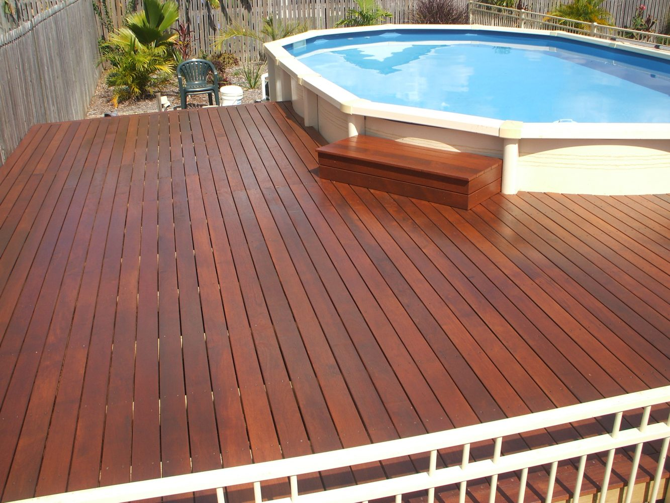 Pool with timber deck