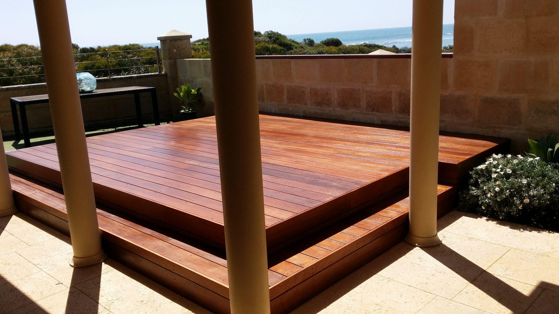 Outdoor Hardwood deck