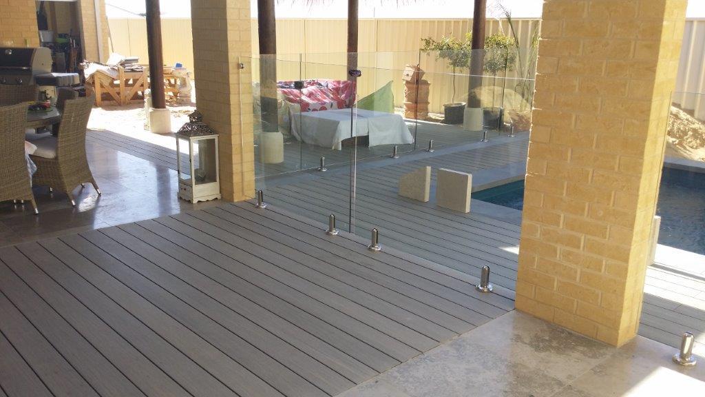 Outdoor composite deck