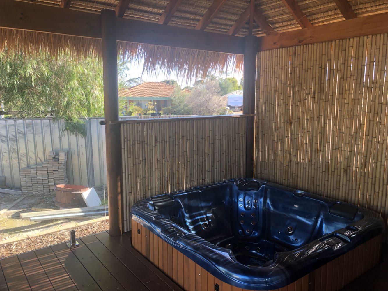 Bamboo spa fencing screen